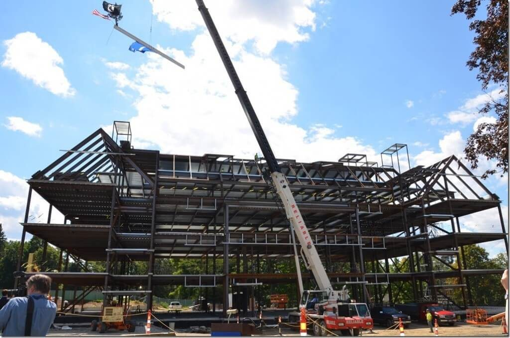 St. John's Prep STEM Building - structural steel work Jay Steel